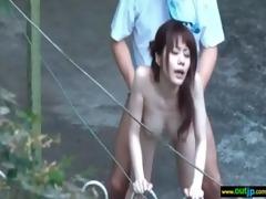 outdoor perverted japanese angel receive screwed