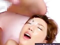 bukkake oriental hot cum facial