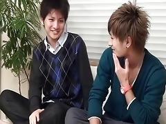 oriental college guys speaking about homo sex