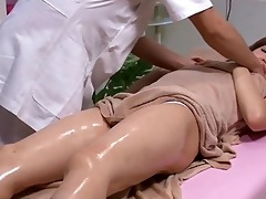 japanese cutie receives erotic body massage
