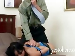 oriental gaia spanked and throatfucked by angry