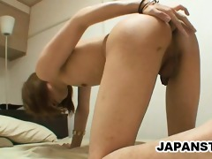 skinny japanese stud teasing his asshole