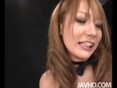 cute av model sena aragaki is showing off a