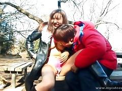 indeed wild outdoor japanese teen blowjob!