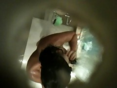 breasty arab cousin in the shower