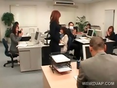 japanese playgirl receives roped to her office