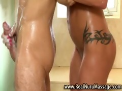 masseuse playgirl bathing client