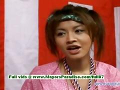 yuzuru japanese blameless oriental gal is talking