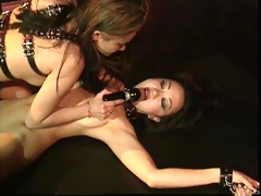 asian bdsm floozy teats clamped and whore tied