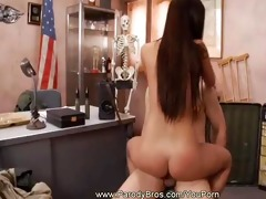 wonderful brunette asian acquires what?