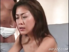 oriental wench gives bj for cum