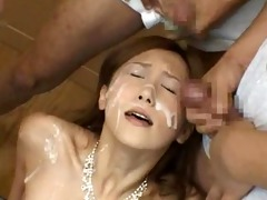 asian playgirl acquires bukkake mask