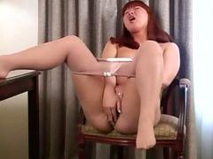 jan in her sheer tan hose
