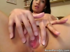 slutty asian sweetheart acquires her wet