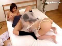 breasty bride licking wet crack getting licked