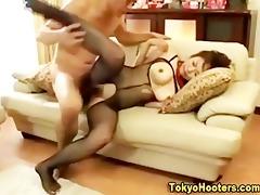 japanese large tit hottie hardcore fuck and spunk