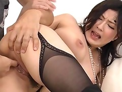 oriental nun gets group-fucked