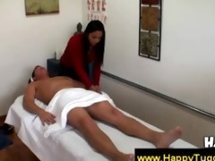 asian girl gives a wonderful massage