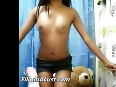 slutty tan filipina stripping undressed