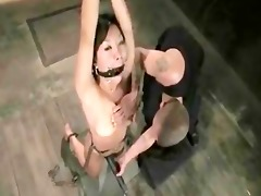 brunette hair beautifull chinese angel tied in an