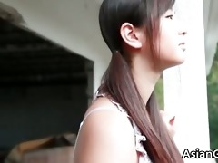 nice looking real oriental model posing her part6