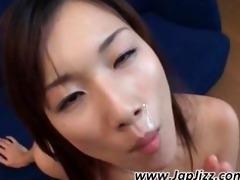 erotic asian minx gulp ball batter from a glass