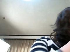 concupiscent asian brunette hair showing her hawt