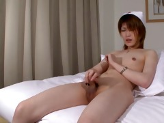 japanese ladyman nurse cums for