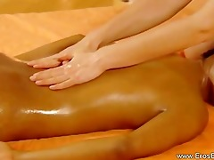 raunchy energy interracial lesbo massage