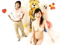 japanese av model has cum trickling out