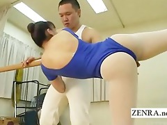 subtitled japanese rhythm gymnast fingers ballet