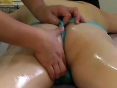 the therapist finger her moist cum-hole