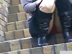 outdoor subway air vent upskirt panties up