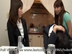 cute japanese lesbo nubiles in act