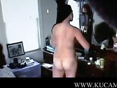 girlfriend caught undressing engulfing ol