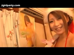 cute japan av beauty meets a fan