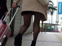 candid oriental pantyhose 103