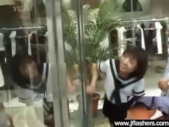 oriental wench flash body then get nailed hard