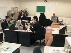 sexy oriental office playgirl sexually tortured