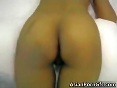 sexy oriental brunette hair wench receives