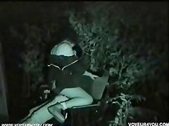midnight outdoor bench sex