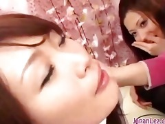 1 oriental gals giving a kiss spitting engulfing