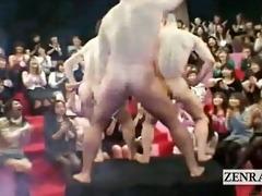 subtitled gargantuan japanese cfnm oral job round