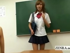 busty japan schoolgirl disrobes undressed in