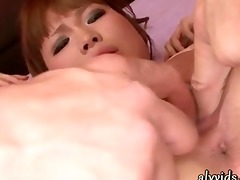 oriental teenie stripping and acquires cum
