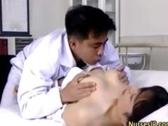 oriental wicked nurse receives sexy
