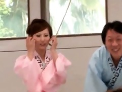 sexually excited group of japanese geishas sharing