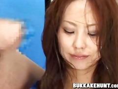 newscaster in oriental bukkake tv