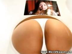 oriental ladies present their great asses in
