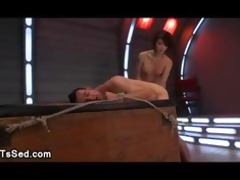 fastened lad ass paddled and caned by oriental